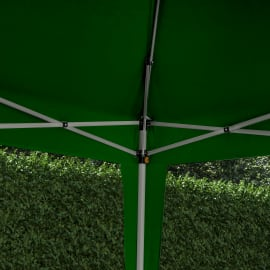 Gazebo in acciaio verde 295 cm x 1.76 m x 295 cm