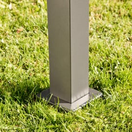 Pergolato in alluminio grigio scuro 308 cm x 2.57 m x 350 cm