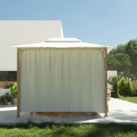 Pergolato in acciaio e alluminio bianco 301 cm x 2.85 m x 401 cm