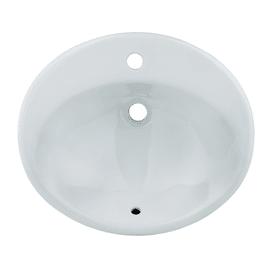 Lavabo a incasso Ovale Bjoux in ceramica L 56 x P 47 x H 19.5 cm bianco