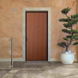 Porta blindata Strong noce L 90 x H 210 cm destra