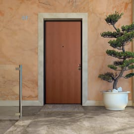 Porta blindata Strong noce L 90 x H 210 cm sinistra