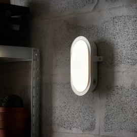 Applique Ovale LED integrato in plastica, bianco, 12W 1300LM IP65