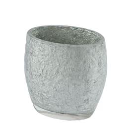 Bicchiere porta spazzolini Argent in resina argento