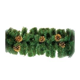 Ghirlanda natalizia verde L 275 cm , Ø 28 cm