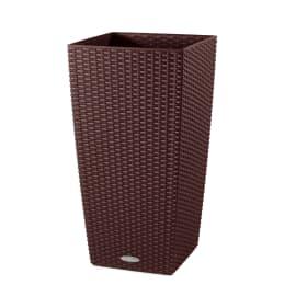 Vaso Cubico Cottage LECHUZA in plastica H 75 cm, L 40 x P 40 cm