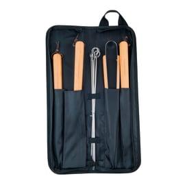 Kit accessori per accessoriare il barbecue e per cuocere CAMPINGAZ Borsa utensili in tessuto 10 pezzi