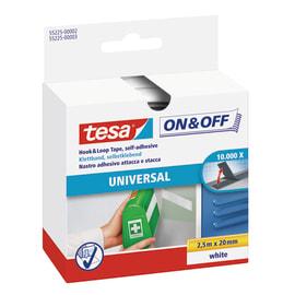 Nastro bi-adesivo TESA TAPE On&Off 0.053 m x 20 mm nero