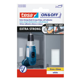 Nastro adesivo TESA On&Off extra strong 97 mm x 0.01 m bianco