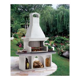 Barbecue in cemento PALAZZETTI Soho con cappa L 188 x P 97 x H 250 cm