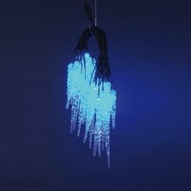 Tenda luminosa 40 lampadine led blu H 26.5 x L 400 cm