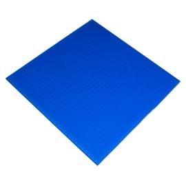 Lastra polionda polipropilene alveolare azzurro 100 cm x 200 cm, Sp 2.5 mm