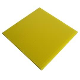 Lastra polionda polipropilene alveolare giallo 100 cm x 200 cm, Sp 2.5 mm