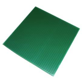 Lastra polionda polipropilene alveolare verde 100 cm x 200 cm, Sp 2.5 mm