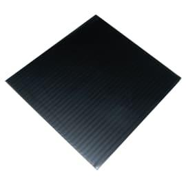 Lastra polionda polipropilene alveolare nero 100 cm x 200 cm, Sp 2.5 mm