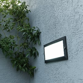 Faretto da incasso da esterno rettangolare Minsk LED integrato in plastica, argento,  diam. 0 cm 8x5.8cm 2,4W 260LM IP54 INSPIRE