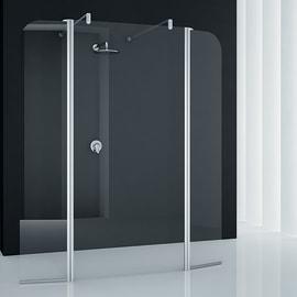 Doccia walk in Twist L 172, H 195 cm, vetro 6 mm trasparente argento