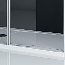 Parete laterale Twist L 73, H 195 cm, vetro 6 mm trasparente argento