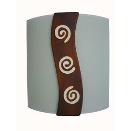 Applique Spiral marrone, in ceramica, 24x24 cm, E27 MAX75W IP20