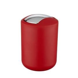 Pattumiera da bagno a ribalta brasil WENKO rosso 2 Lin plastica