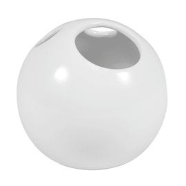 Bicchiere porta spazzolini Bubble in ceramica bianco