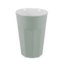 Bicchiere porta spazzolini Charlotte in ceramica verde