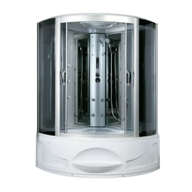 Vasca idromassaggio angolare bianco 200 x 200 cm 4 bocchette
