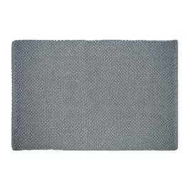 Tappeto bagno Bubble in 100% cotone grigio 80 x 50 cm