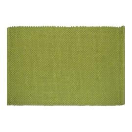 Tappeto bagno rettangolare Bubble in 100% cotone verde 80 x 50 cm