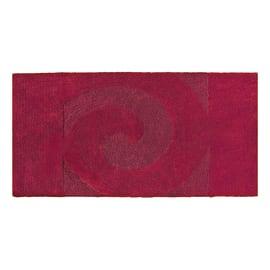 Tappeto bagno rettangolare Elisabeth in cotone rosso 90 x 55 cm