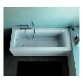 Vasca e pannello piatto Flower 170 x 70 cm bianco