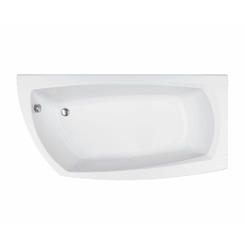 Vasca e pannello piatto Cloe 170 x 70 cm bianco