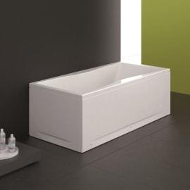 Vasca e pannello piatto Bice 180 x 80 cm bianco