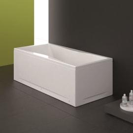 Vasca e pannello piatto Bice 190 x 90 cm bianco