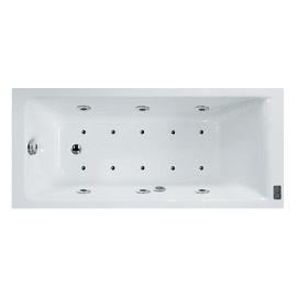 Vasca idromassaggio rettangolare Galaxy Confort bianco 170 x 75 cm 16 bocchette SENSEA