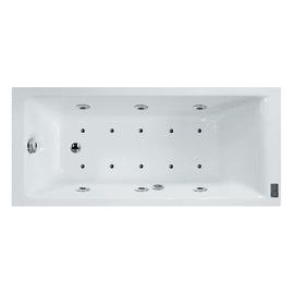Vasca idromassaggio rettangolare Galaxy DS Confort bianco 160 x 70 cm 16 bocchette SENSEA
