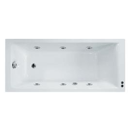 Vasca idromassaggio rettangolare Galaxy Confort bianco 70 x 170 cm 6 bocchette SENSEA