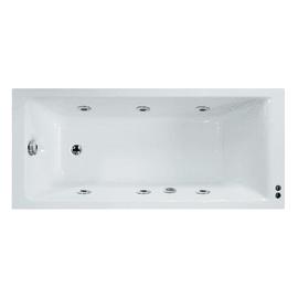 Vasca idromassaggio rettangolare Galaxy confort bianco 130 x 170 cm 6 bocchette SENSEA