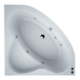 Vasca idromassaggio angolare Nacar Confort bianco 130 x 130 cm 6 bocchette SANYCCES