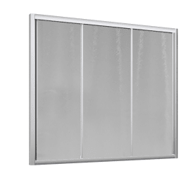 Parete vasca Oceania in vetro temprato H 150 cm