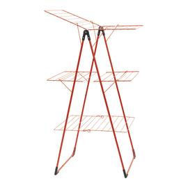 Stendibiancheria da appoggio con battenti Tower in acciaio per a pavimento L 67 cm