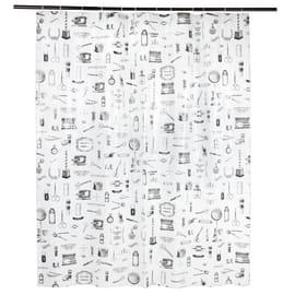 Tenda doccia Barber in poliestere bianco L 180 x H 200 cm