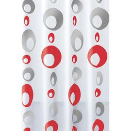 Tenda doccia Bolle in vinile grigio L 240 x H 200 cm
