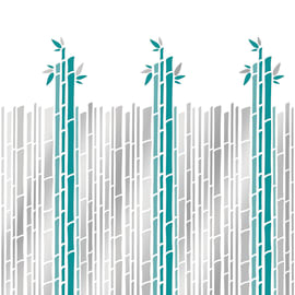 Tenda doccia Cannette in vinile verde L 120 x H 200 cm