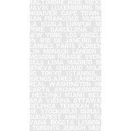 Tenda doccia City in vinile bianco L 240 x H 200 cm