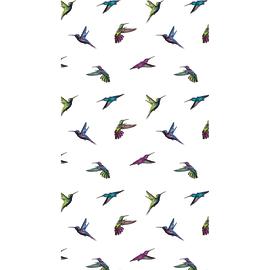 Tenda doccia Colibrì in poliestere multicolor L 180 x H 200 cm