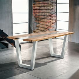Tavolo rettangolare Vertigo in legno L 200 x P 80 cm