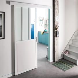 Porta scorrevole con binario esterno Atelier in vetro L 86 x H 215 cm