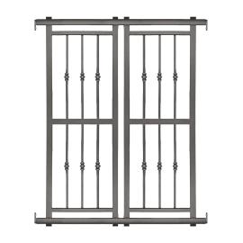 Grata blindata Basic 120 x 155 cm grigio / argento