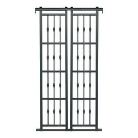 Grata blindata Basic 120 x 220 cm grigio / argento